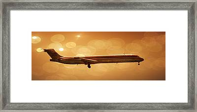 Framed Print featuring the photograph American Airlines Md80  by Aaron Berg