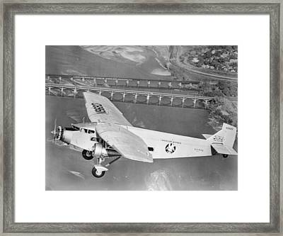 American Airlines Tri-motor Framed Print
