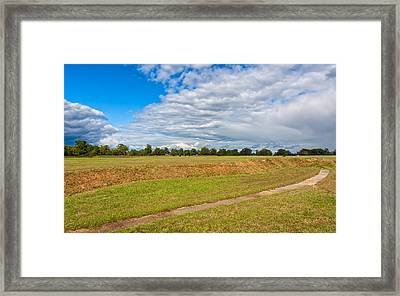 American And French Positions At Yorktown Framed Print
