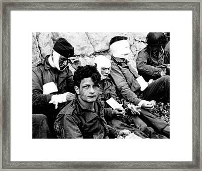 American Assault Troops Normandy Framed Print by Celestial Images