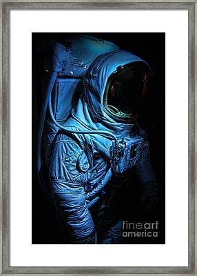 American Astronaut - Buzz Aldrin's Suit Framed Print by Lee Dos Santos
