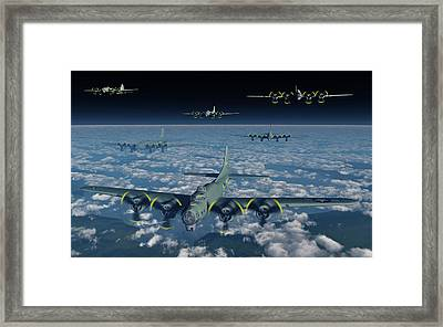 American B-17 Flying Fortress Bombers Framed Print
