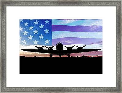 American B-17 Flying Fortress Framed Print