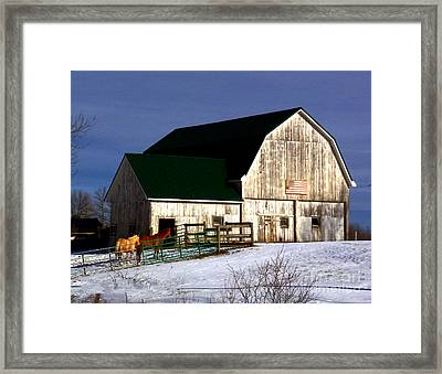 American Barn Framed Print by Desiree Paquette
