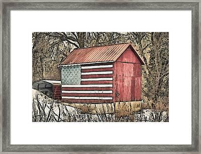 American Barn Framed Print by Trish Tritz