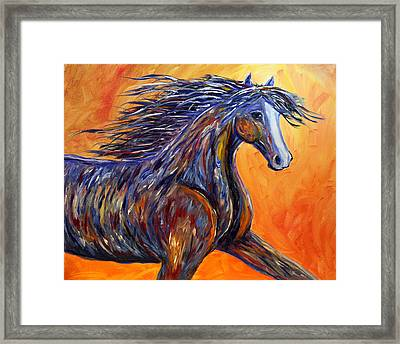 Framed Print featuring the painting American Beauty Abstract Horse Painting by Jennifer Godshalk