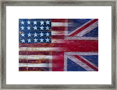 American British Flag 2 Framed Print