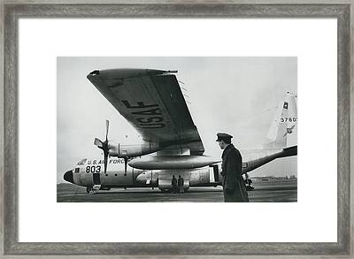 American C.130 E. Aircraft - Demonstrated For Air Force Framed Print by Retro Images Archive