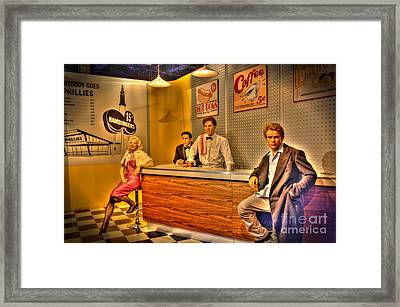 American Cinema Icons - 5 And Diner Framed Print