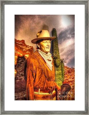 American Cinema Icons - The Duke Framed Print