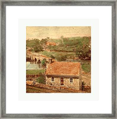 American Civil War Bridge On The Boonsboro Pike Framed Print by American School