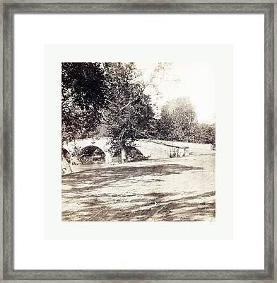 American Civil War Burnside Bridge, Antietam Framed Print