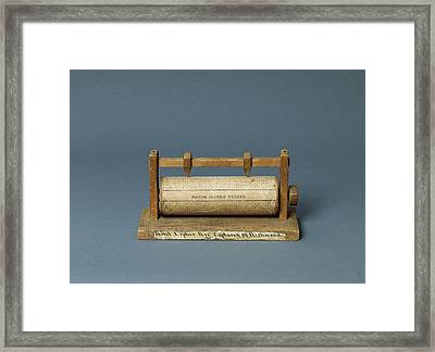 American Civil War Cipher Reel Framed Print