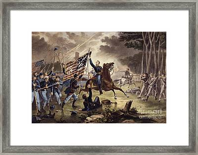 American Civil War General   Philip Kearny Framed Print by American School