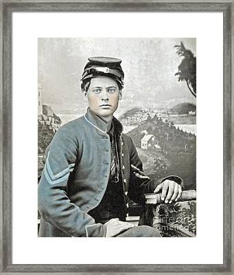 An American Civil War Soldier Framed Print by Celestial Images