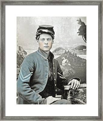 An American Civil War Soldier Framed Print