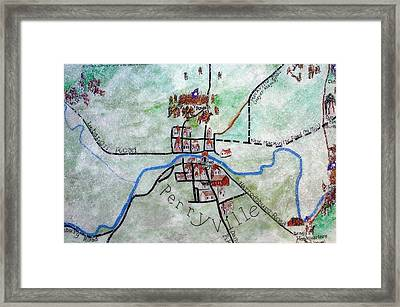 American Civil War Town - Perryville Ky Framed Print by Thia Stover