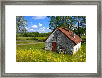 American Country Farmhouse Framed Print by Olivier Le Queinec
