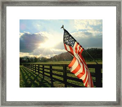American Country Framed Print by Mary Lawson