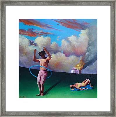 American Couple Number One Framed Print by Geoff Greene