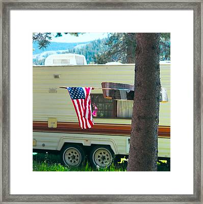 American Culture Framed Print by Dean Drobot