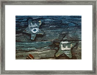 American Cutout Framed Print