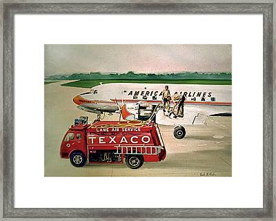 American Dc-6 At Columbus Framed Print by Frank Hunter