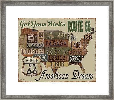 American Dream-route 66-2 Framed Print