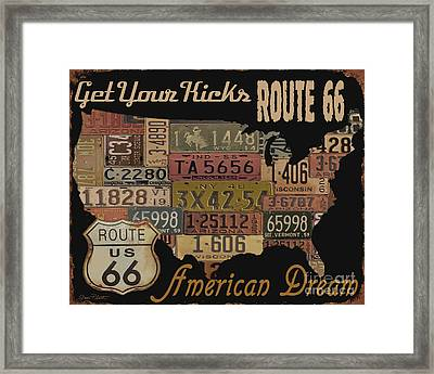 American Dream-route 66 Framed Print