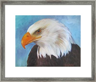 Framed Print featuring the painting American Eagle by Cheri Wollenberg