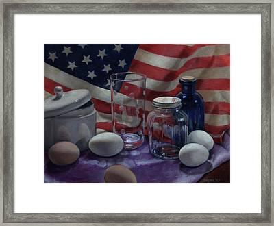 American Eggs Framed Print