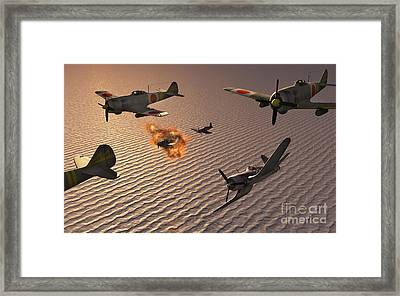 American F4u Corsair Aircraft Attacking Framed Print