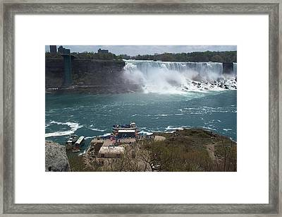Framed Print featuring the photograph American Falls From Above The Maid by Barbara McDevitt