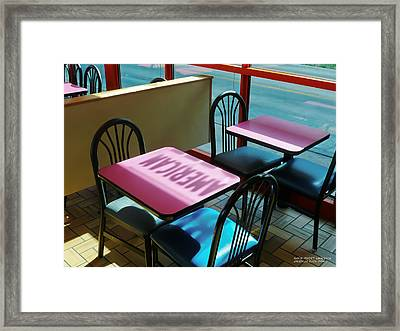 American Fast Food Framed Print by David Perry Lawrence