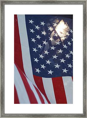 American Flag - 01131 Framed Print by DC Photographer