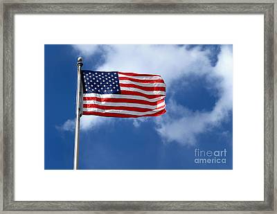 American Flag Framed Print by Amy Cicconi