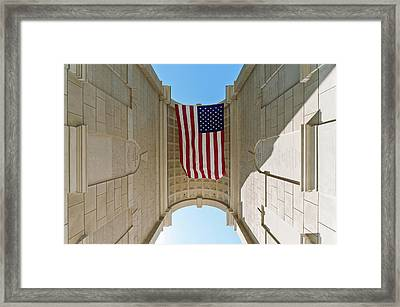 American Flag At The Millennium Gate Framed Print by Panoramic Images