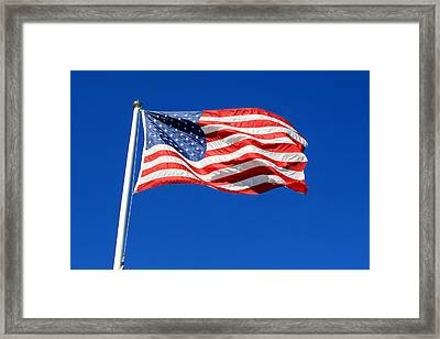 Framed Print featuring the photograph American Flag by Barbara West