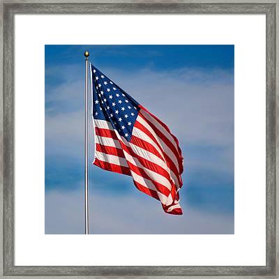 American Flag Framed Print by Benjamin Reed