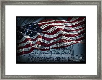 American Flag God Country Notre Dame Go Irish Framed Print