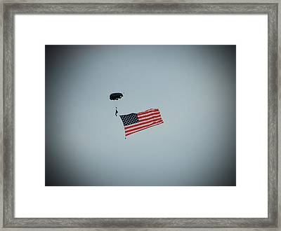 American Flag In The Sky Framed Print by Aimee L Maher Photography and Art Visit ALMGallerydotcom
