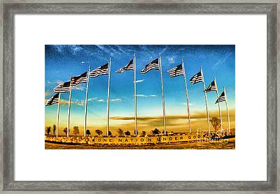 American Flag - Independence Day Framed Print by Luther Fine Art