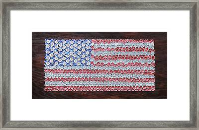 American Flag Framed Print by Kay Galloway