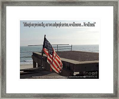 American Flag Framed Print by Laurence Oliver