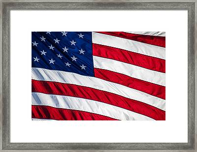 American Flag Framed Print by Leslie Banks
