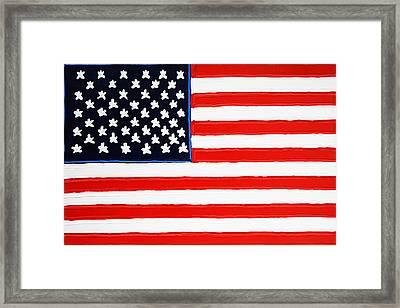 American Flag Framed Print by Matthew Brzostoski