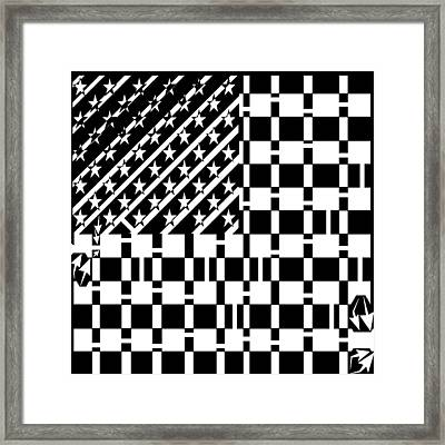 American Flag Maze  Framed Print by Yonatan Frimer Maze Artist
