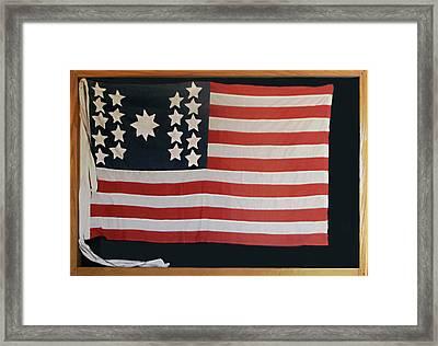 American Flag Of 1811 Framed Print by Linda Phelps