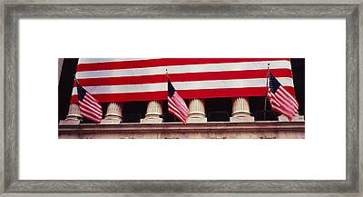 American Flag On The Front Framed Print
