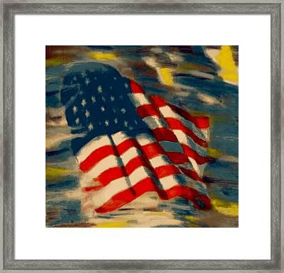 American Flag Framed Print by Patrick McClellan